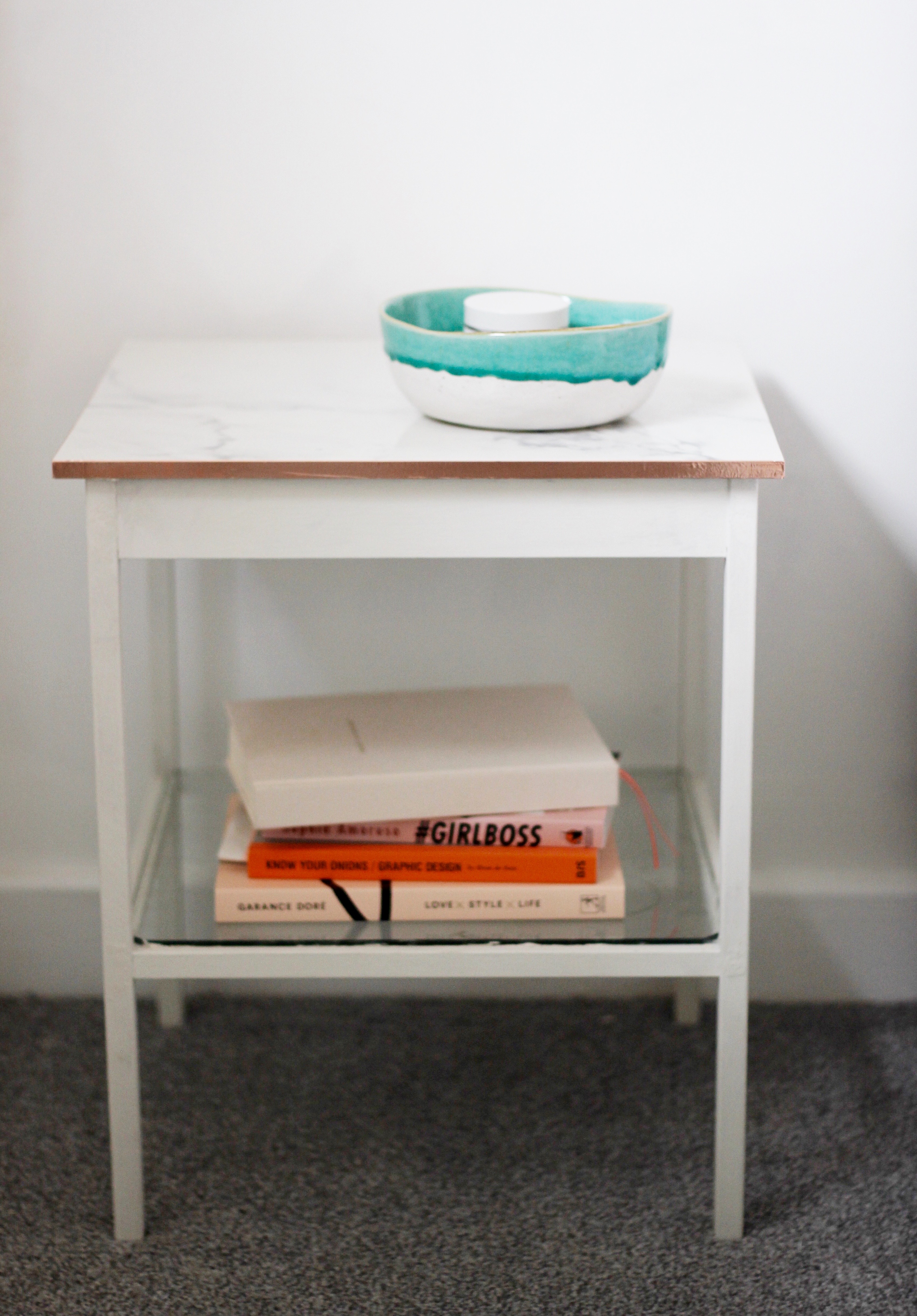 Copper and marble bedside tables an ikea hack post navigation watchthetrailerfo
